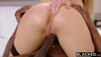 Roxanne Hall sucking and fucking hard with a white dude and his dick